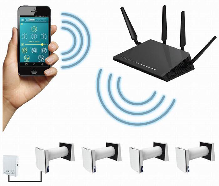 Управление VENTO-Expert-A50-1-W с помощью Wi-Fi